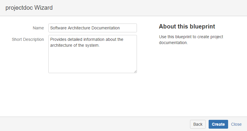project documentation template